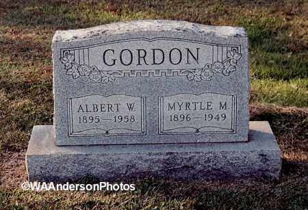 GORDON, ALBERT W - Gallia County, Ohio | ALBERT W GORDON - Ohio Gravestone Photos