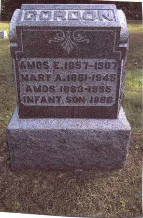 GORDON, AMOS - Gallia County, Ohio | AMOS GORDON - Ohio Gravestone Photos