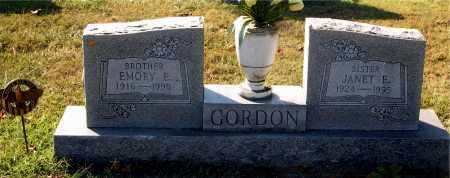 GORDON, EMORY - Gallia County, Ohio | EMORY GORDON - Ohio Gravestone Photos