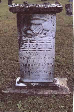 GORDON, ZILPHA - Gallia County, Ohio | ZILPHA GORDON - Ohio Gravestone Photos