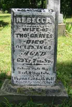 GRAVES, REBECCA - Gallia County, Ohio | REBECCA GRAVES - Ohio Gravestone Photos