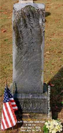 GRAYUM, WILLIAM (CAPT) - Gallia County, Ohio | WILLIAM (CAPT) GRAYUM - Ohio Gravestone Photos