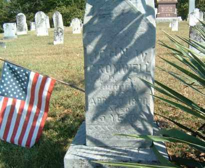GROMWELL, JOHN W. - Gallia County, Ohio | JOHN W. GROMWELL - Ohio Gravestone Photos