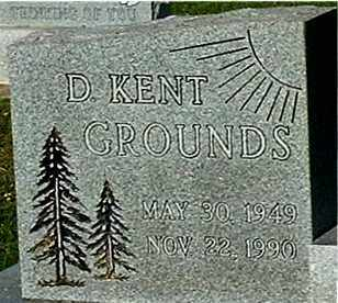 GROUNDS, D KENT (CLOSE-UP) - Gallia County, Ohio | D KENT (CLOSE-UP) GROUNDS - Ohio Gravestone Photos