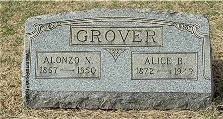 GROVER, ALONZO N - Gallia County, Ohio | ALONZO N GROVER - Ohio Gravestone Photos