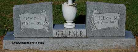 GRUESER, THELMA M - Gallia County, Ohio | THELMA M GRUESER - Ohio Gravestone Photos