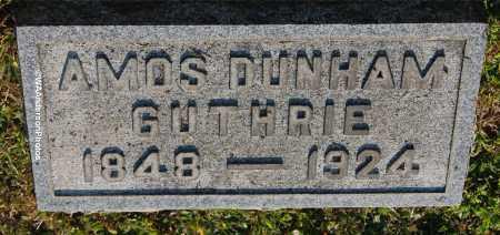GUTHRIE, AMOS DUNHAM - Gallia County, Ohio | AMOS DUNHAM GUTHRIE - Ohio Gravestone Photos