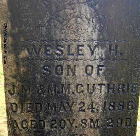 GUTHRIE, WESLEY H (CLOSE-UP) - Gallia County, Ohio | WESLEY H (CLOSE-UP) GUTHRIE - Ohio Gravestone Photos