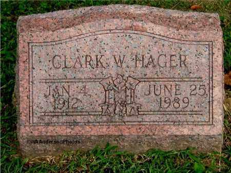 HAGER, CLARK W - Gallia County, Ohio | CLARK W HAGER - Ohio Gravestone Photos
