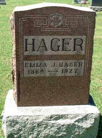 BUTCHER HAGER, EMMA JANE - Gallia County, Ohio | EMMA JANE BUTCHER HAGER - Ohio Gravestone Photos