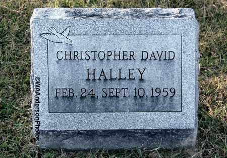 HALLEY, CHRISTOPHER DAVID - Gallia County, Ohio | CHRISTOPHER DAVID HALLEY - Ohio Gravestone Photos