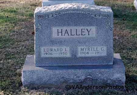 HALLEY, EDWARD L - Gallia County, Ohio | EDWARD L HALLEY - Ohio Gravestone Photos