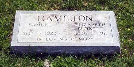 BURNETT HAMILTON, ELIZABETH - Gallia County, Ohio | ELIZABETH BURNETT HAMILTON - Ohio Gravestone Photos