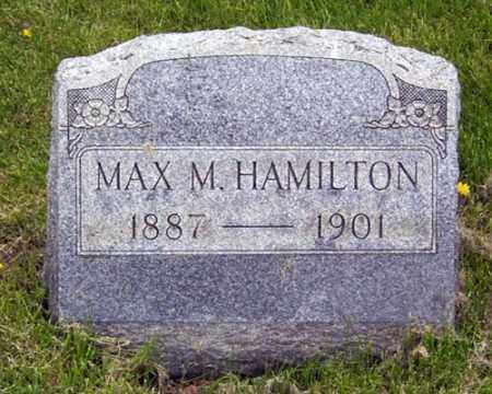 HAMILTON, MAX M. - Gallia County, Ohio | MAX M. HAMILTON - Ohio Gravestone Photos