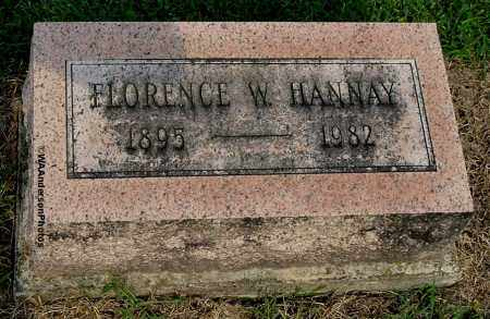 HANNAY, FLORENCE W - Gallia County, Ohio | FLORENCE W HANNAY - Ohio Gravestone Photos