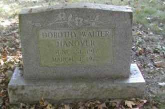 WALTER HANOVER, DOROTHY - Gallia County, Ohio | DOROTHY WALTER HANOVER - Ohio Gravestone Photos