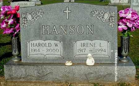 HANSON, HAROLD W - Gallia County, Ohio | HAROLD W HANSON - Ohio Gravestone Photos