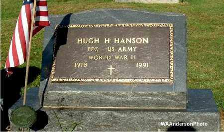HANSON, HUGH H - Gallia County, Ohio | HUGH H HANSON - Ohio Gravestone Photos