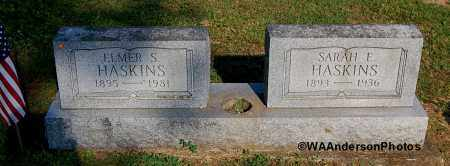 HASKINS, SARAH E - Gallia County, Ohio | SARAH E HASKINS - Ohio Gravestone Photos
