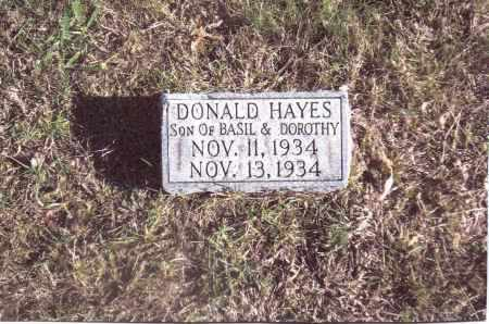 HAYES, DONALD - Gallia County, Ohio | DONALD HAYES - Ohio Gravestone Photos
