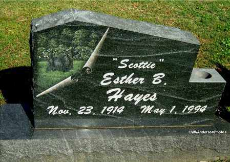 "HAYES, ESTHER B ""SCOTTIE"" - Gallia County, Ohio 