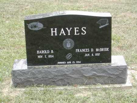 MCBRIDE HAYES, FRANCES - Gallia County, Ohio | FRANCES MCBRIDE HAYES - Ohio Gravestone Photos