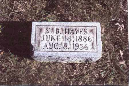 HAYES, N.B. - Gallia County, Ohio | N.B. HAYES - Ohio Gravestone Photos