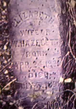 HAZELETT, ELIZABETH - Gallia County, Ohio | ELIZABETH HAZELETT - Ohio Gravestone Photos