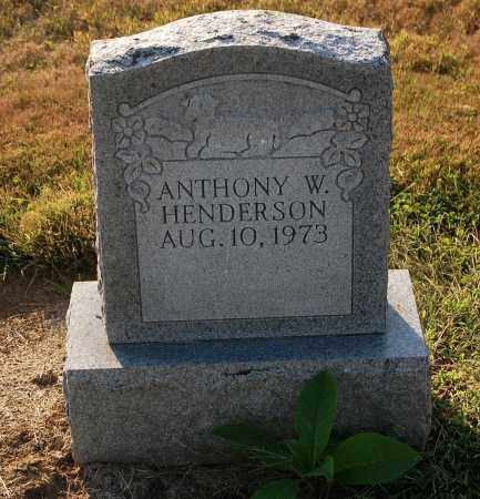 HENDERSON, ANTHONY W. - Gallia County, Ohio | ANTHONY W. HENDERSON - Ohio Gravestone Photos
