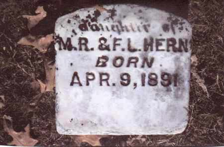 HERN, DAUGHTER - Gallia County, Ohio | DAUGHTER HERN - Ohio Gravestone Photos
