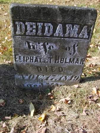 HOLMAN, DEIDAMA - Gallia County, Ohio | DEIDAMA HOLMAN - Ohio Gravestone Photos