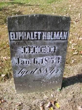 HOLMAN, ELIPHALET - Gallia County, Ohio | ELIPHALET HOLMAN - Ohio Gravestone Photos