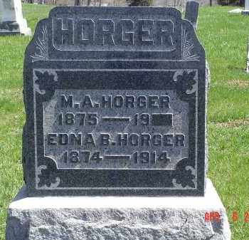 HORGER, EDNA B. - Gallia County, Ohio | EDNA B. HORGER - Ohio Gravestone Photos