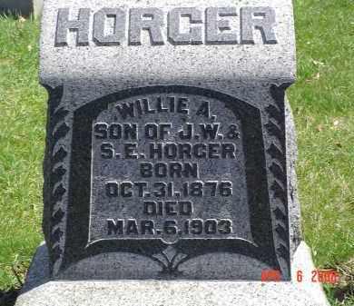 HORGER, WILLIE A. - Gallia County, Ohio | WILLIE A. HORGER - Ohio Gravestone Photos