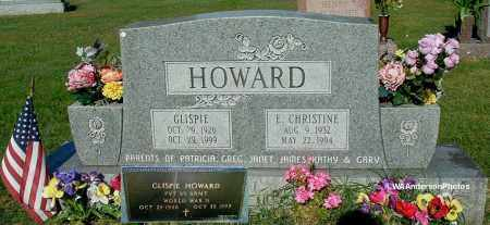 HOWARD, GLISPIE - Gallia County, Ohio | GLISPIE HOWARD - Ohio Gravestone Photos
