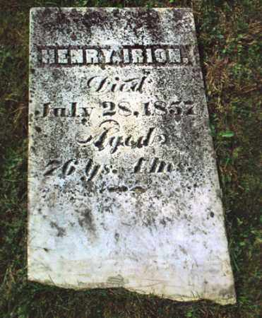 IRION, HENRY - Gallia County, Ohio | HENRY IRION - Ohio Gravestone Photos