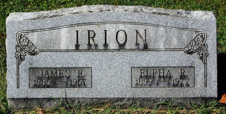 IRION, ELPHA R. - Gallia County, Ohio | ELPHA R. IRION - Ohio Gravestone Photos