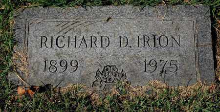 IRION, RICHARD D. - Gallia County, Ohio | RICHARD D. IRION - Ohio Gravestone Photos