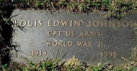 JOHNSON, LOUIS EDWIN (CLOSE-UP) - Gallia County, Ohio | LOUIS EDWIN (CLOSE-UP) JOHNSON - Ohio Gravestone Photos