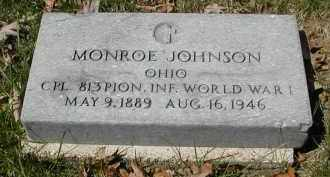 JOHNSON, MONROE - Gallia County, Ohio | MONROE JOHNSON - Ohio Gravestone Photos