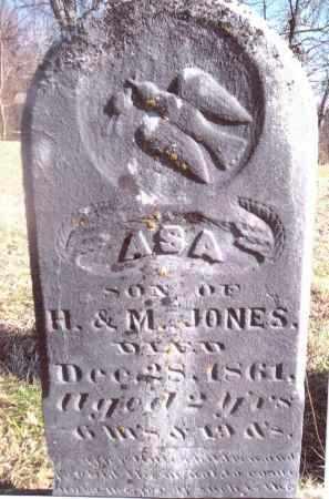 JONES, ASA - Gallia County, Ohio   ASA JONES - Ohio Gravestone Photos