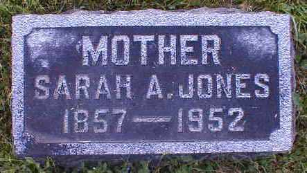 JONES, SARAH - Gallia County, Ohio | SARAH JONES - Ohio Gravestone Photos