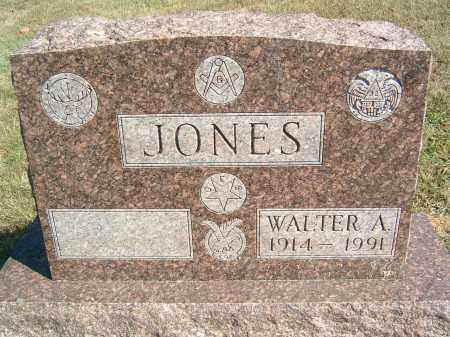 JONES, WALTER A - Gallia County, Ohio | WALTER A JONES - Ohio Gravestone Photos