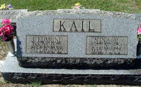 KAIL, JOHN EDMUND - Gallia County, Ohio | JOHN EDMUND KAIL - Ohio Gravestone Photos