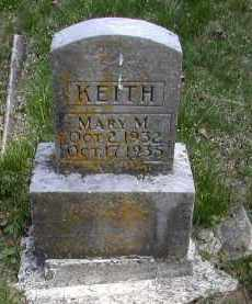 KEITH, MARY M. - Gallia County, Ohio | MARY M. KEITH - Ohio Gravestone Photos
