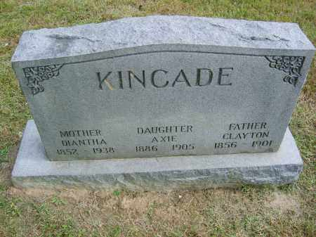 KINCADE, AXIE - Gallia County, Ohio | AXIE KINCADE - Ohio Gravestone Photos