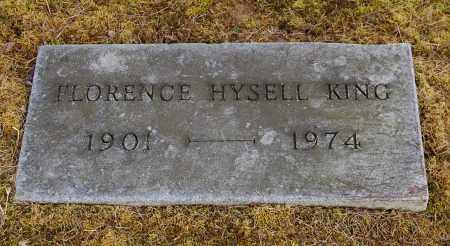 HYSELL KING, FLORENCE - Gallia County, Ohio | FLORENCE HYSELL KING - Ohio Gravestone Photos