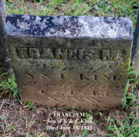 KING, FRANCIS M - Gallia County, Ohio | FRANCIS M KING - Ohio Gravestone Photos