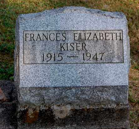 KISER, FRANCES ELIZABETH - Gallia County, Ohio | FRANCES ELIZABETH KISER - Ohio Gravestone Photos