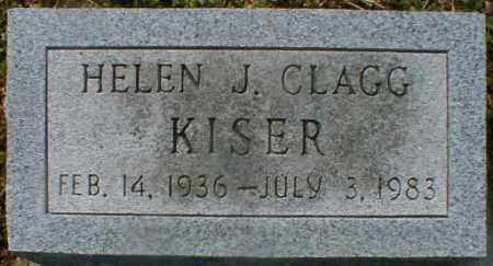 CLAGG KISER, HELEN - Gallia County, Ohio | HELEN CLAGG KISER - Ohio Gravestone Photos